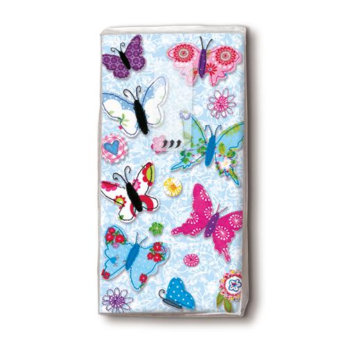 Taschentücher 'Handmade Butterflies' 10 Stück