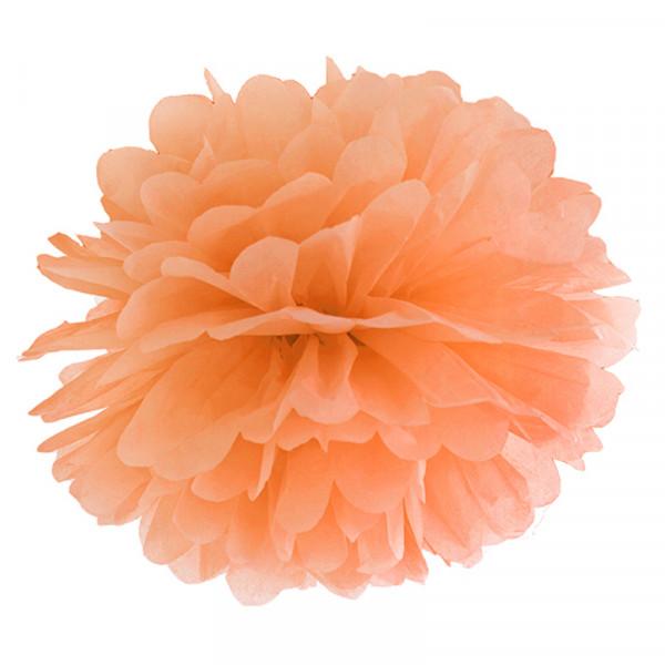 Pompom 35 cm orange