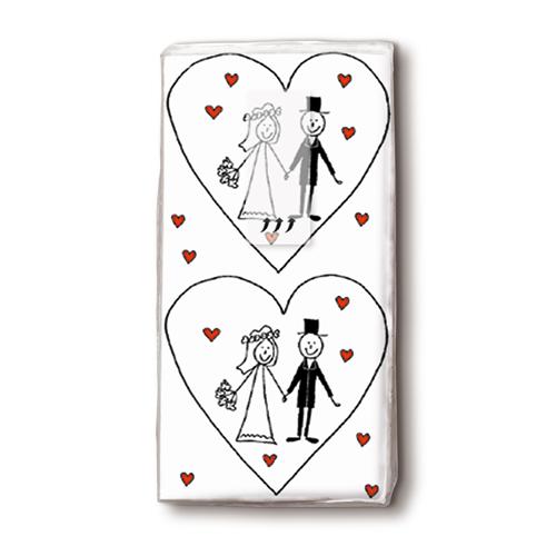 Taschentücher 'Marriage' 10 Stück