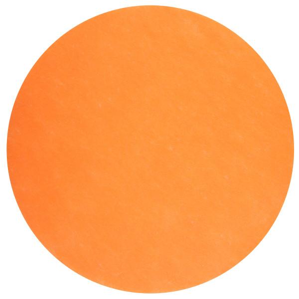 Platzset / Tischset Vlies rund 34 cm (50 Stück) - orange