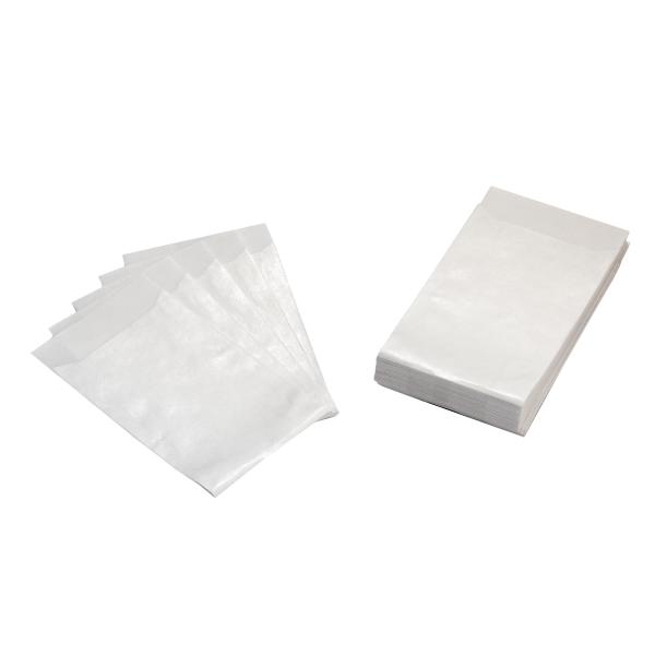 50 Mini Flachbeutel / Tüten weiß 6,3 x 9,3 cm