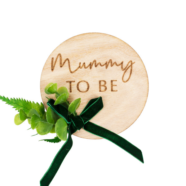 Botanical Baby Button 'Mummy to be' Holz - natur