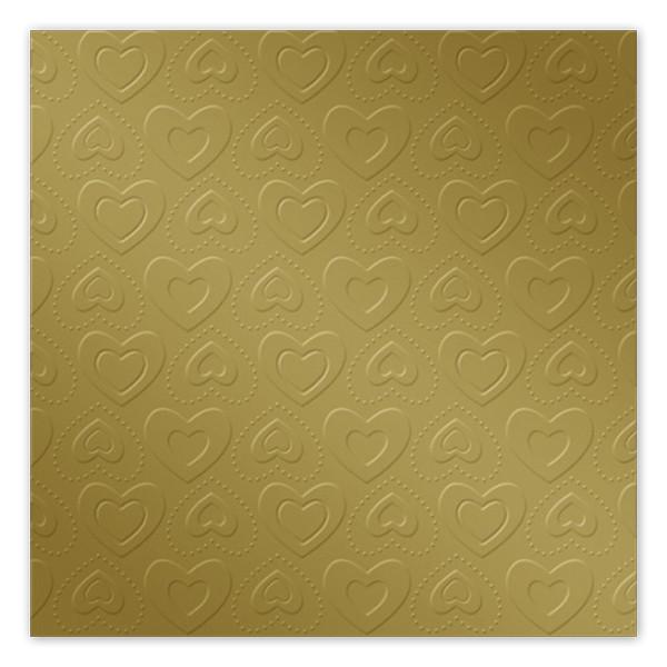 Servietten Herzen geprägt (16 Stück) - gold