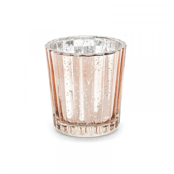 Windlicht aus Glas Vintage (4 Stück) - roségold