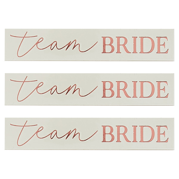 Blush Party Tattoos Team Bride 16 Stück