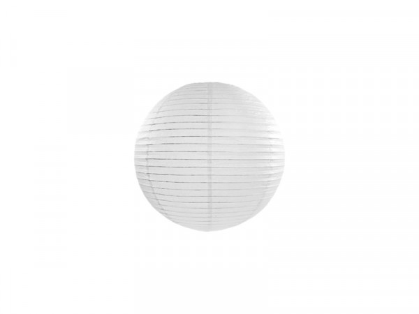 Laterne / Lampion rund 20 cm weiß