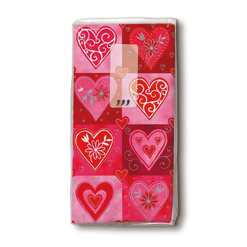 Taschentücher 'Filigree Hearts' 10 Stück