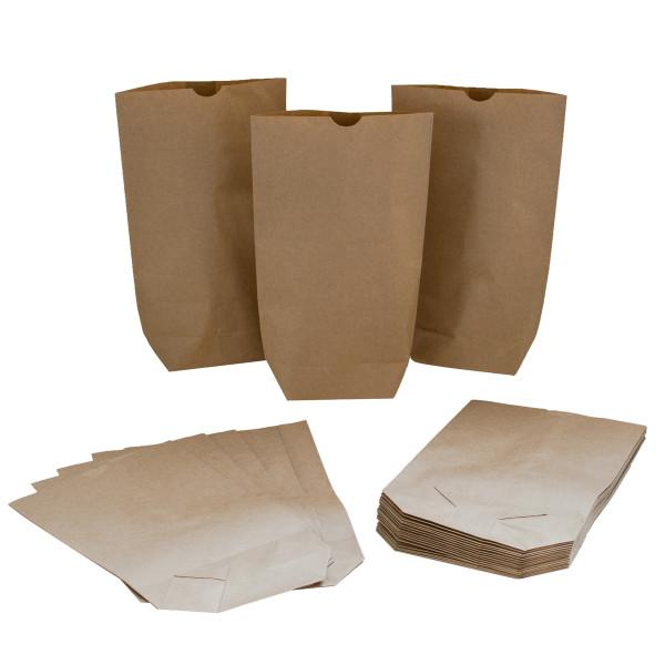 24 Bodenbeutel / Tüten Kraftpapier 16,5 x 26 cm