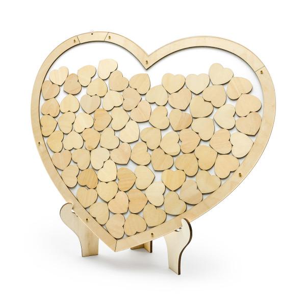Herz Bilderrahmen, Alternative zum Gästebuch - Holz