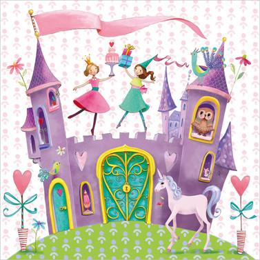 Prinzessin Party Servietten 'Schloss' (20 Stück)