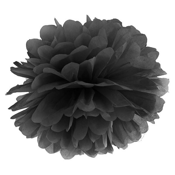 Pompom 35 cm schwarz