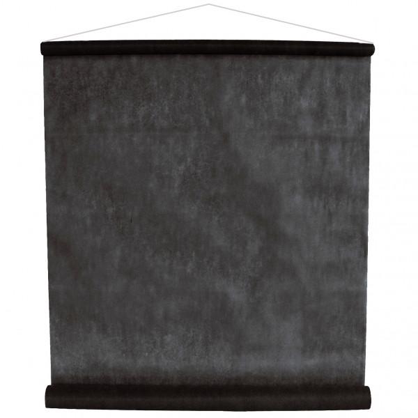 Raumbanner Vlies 80 cm x 12 m - schwarz