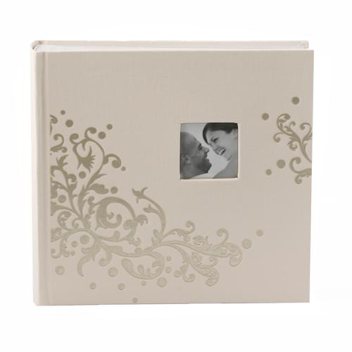 Fotoalbum zur Hochzeit 'Ornament' - creme & gold