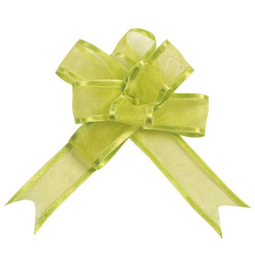 Organzaschleife / Automatikschleife 'Mini' (5 Stück) - hellgrün