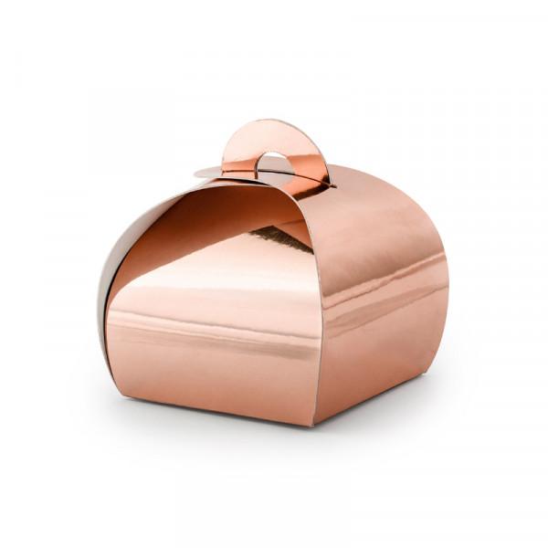 Geschenkbox / Kartonage (10 Stück) - roségold