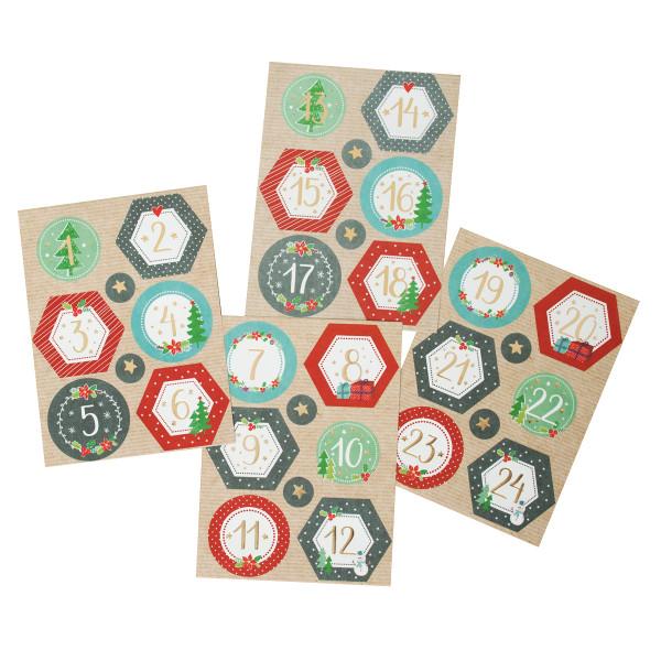 Adventsaufkleber / Sticker 'Liebliche Weihnacht'