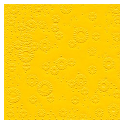 Servietten Moments geprägt (16 Stück) - gelb