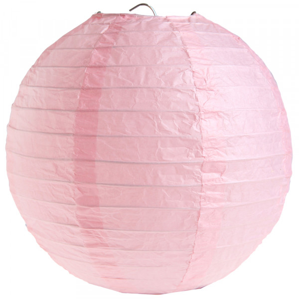 Laterne / Lampion rund 30 cm - rosa (2 Stück)