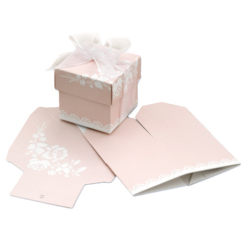 Kartonage 'Scatola' Shabby Chic - rosa