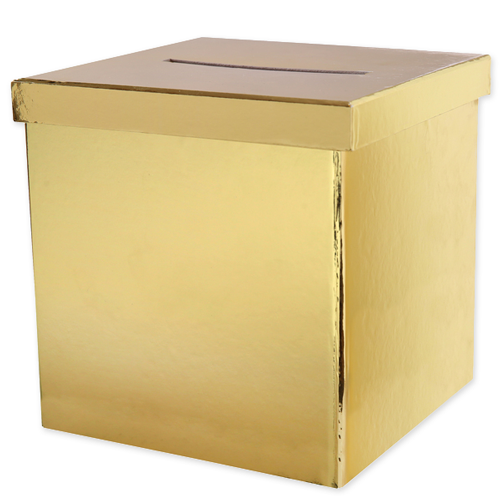 Briefbox / Geschenkbox 20 x 20 cm - gold