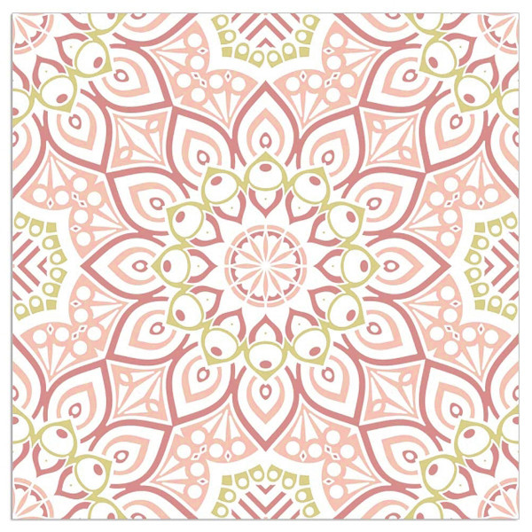 Servietten 'Mandala' (20 Stück) - rosa & gold