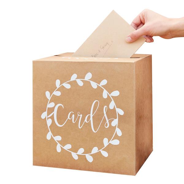 Briefbox / Geschenkbox 'Cards' Kraft, 25 x 25 cm