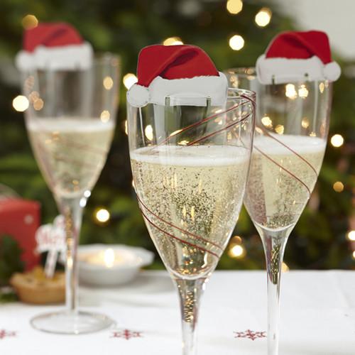 Weihnachtsdeko für Gläser 'Santa' (10 Stück)