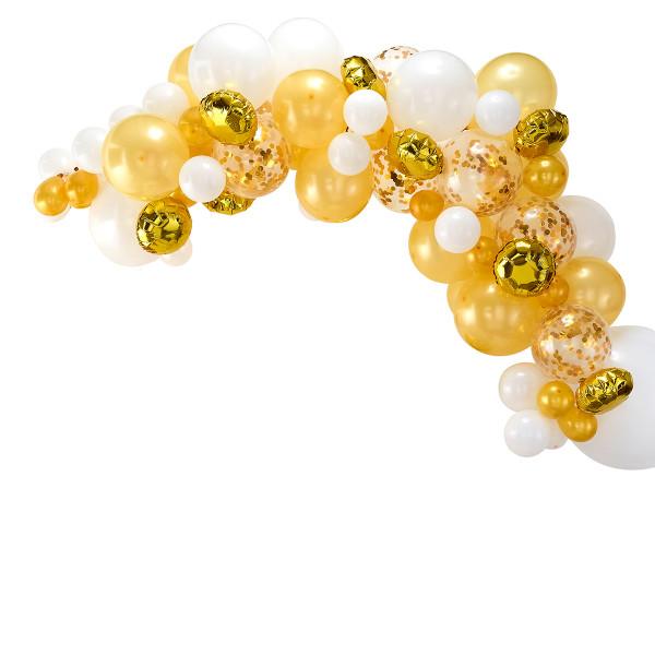 Ballon Girlande / Bogen 70 Stück gold