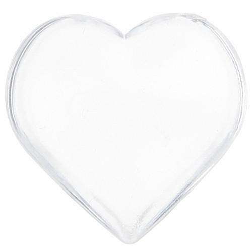Streudekoration Herzen (12 Stück) - transparent