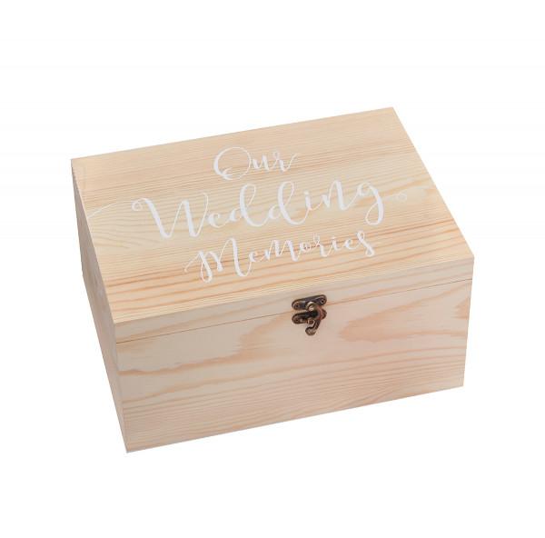 Erinnerungsbox 'Our Wedding Memories' Holz, 28 x 13,5 cm
