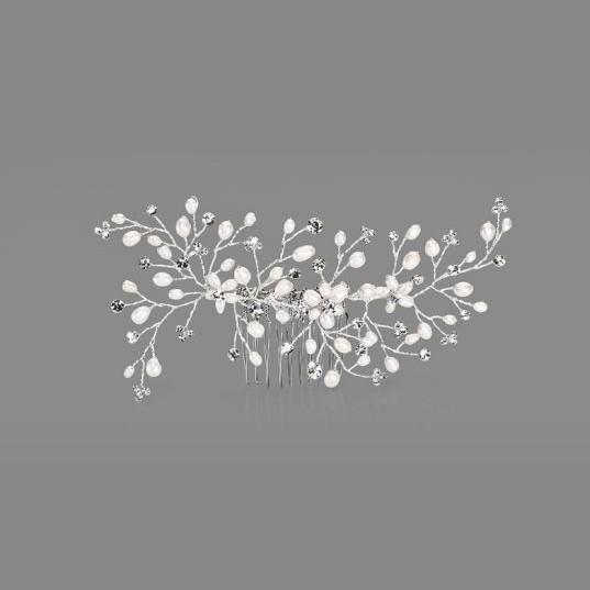 Gesteck - Perlenblüten & Strass