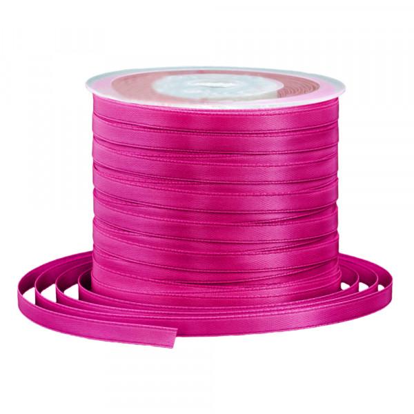 Satinband 6 mm x 91 m - fuchsia / pink