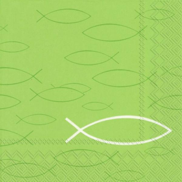 Servietten Fische (20 Stück) - hellgrün