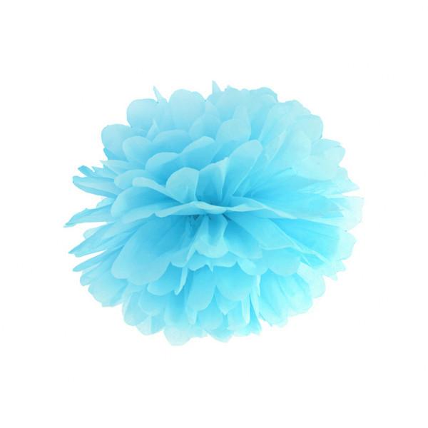 Pompom 25 cm hellblau