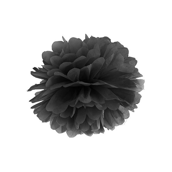 Pompom 25 cm schwarz