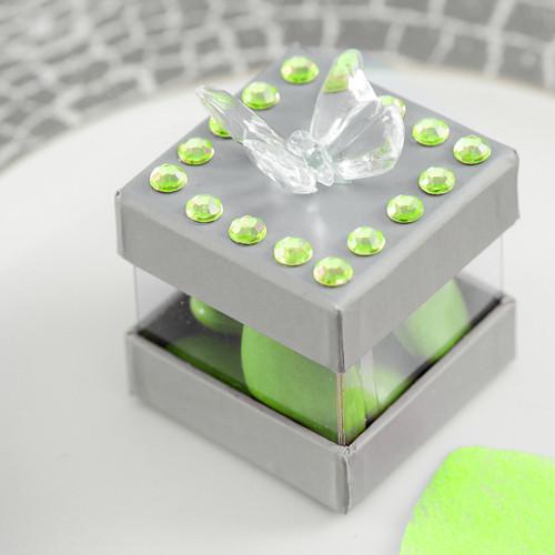 Strasssteine, selbstklebend (160 Stück) - hellgrün