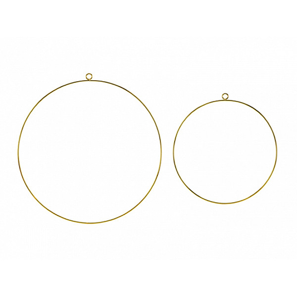 Dekoringe / Metallringe (2 Stück) - gold
