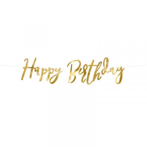 Girlande Happy Birthday 62 cm - gold