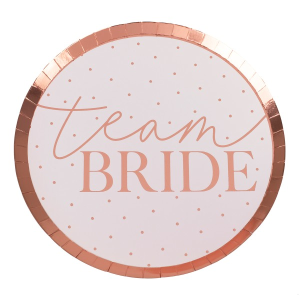 Blush Party Team Bride Teller 8 Stück