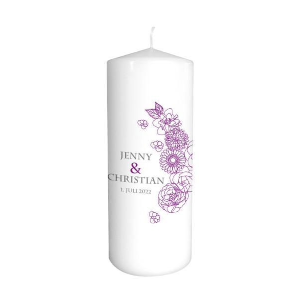 Hochzeitskerze Blumen - Farbwahl
