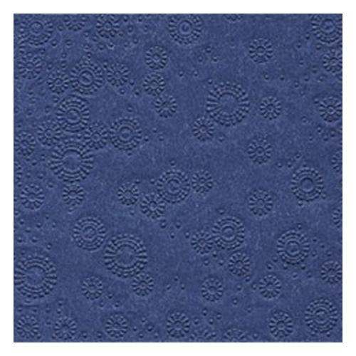 Servietten Moments geprägt (16 Stück) - dunkelblau