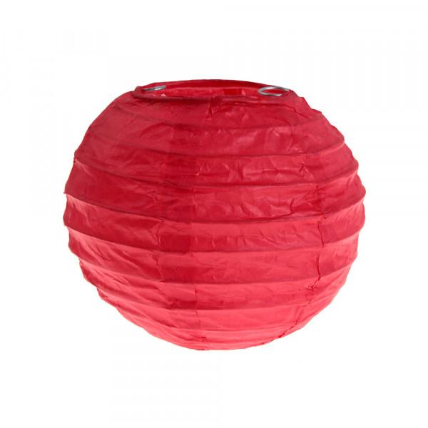 Laterne / Lampion rund 10 cm - rot (2 Stück)