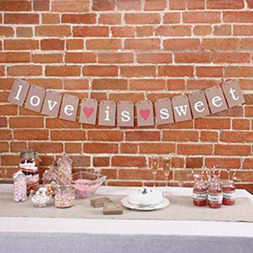 Candy Bar Girlande 'love is sweet'