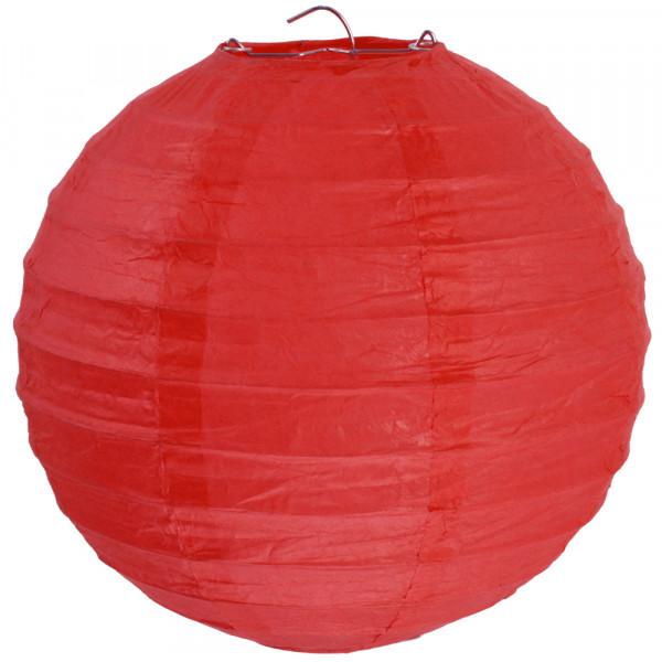 Laterne / Lampion rund 30 cm - rot (2 Stück)
