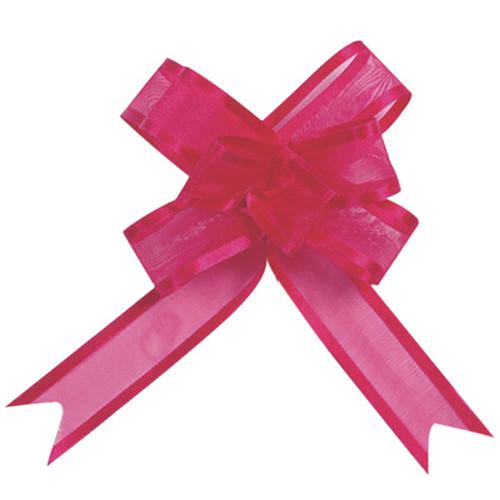 Organzaschleife / Automatikschleife 'Mini' (5 Stück) - pink