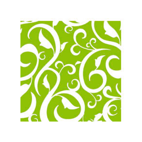 Cocktailservietten Ornament (20 Stück) - hellgrün