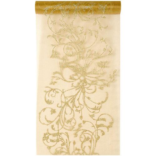 Tischläufer 'Ornament' 28 cm x 5 m - gold