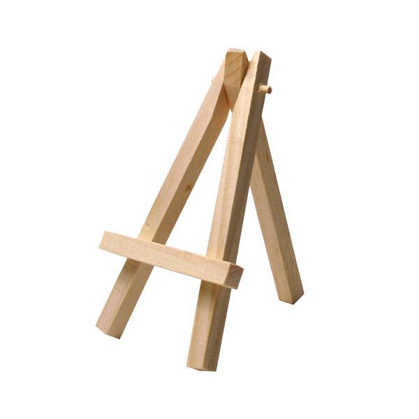 Mini Staffeleien / Tischkartenhalter Holz (3 Stück) - natur