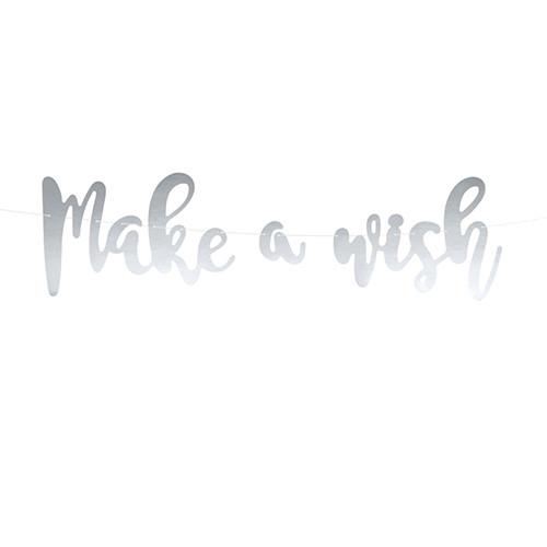 Girlande Make a wish 60 cm - silber