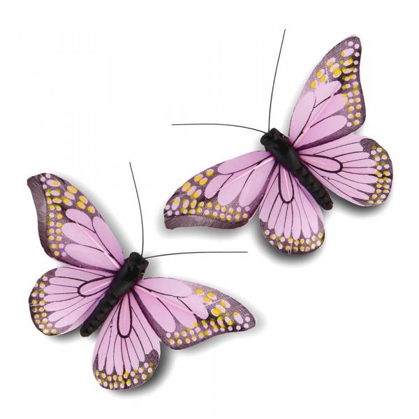 Schmetterlinge flieder (12 Stück)
